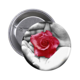 A Rose in the Hand 2 Pinback Button