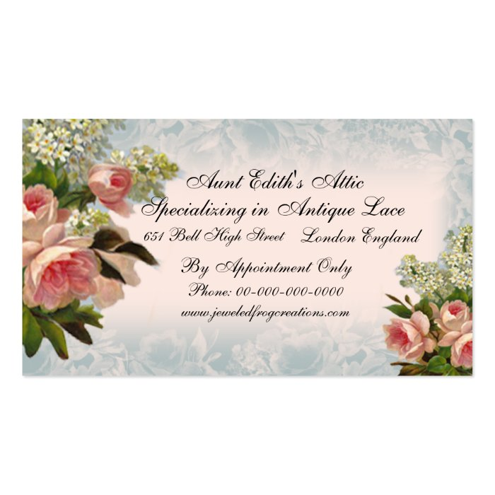 A Rose is a Rose, Business Card