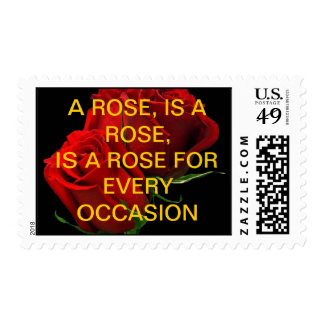 A ROSE, IS A ROSE, IS A ROSE STAMP FRANQUEO