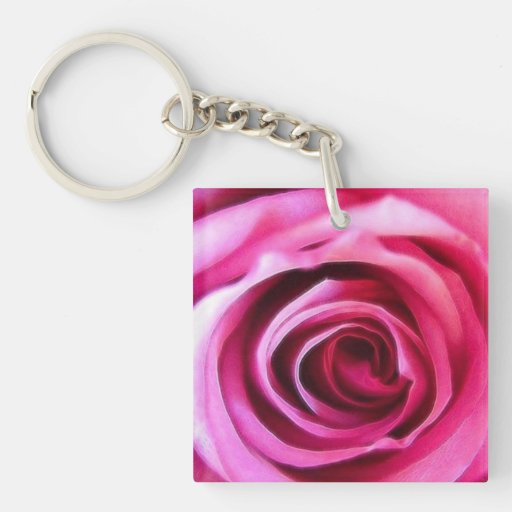 A Rose is A Rose Single-Sided Square Acrylic Keychain