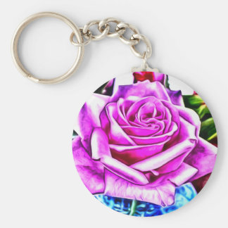 A Rose Basic Round Button Keychain