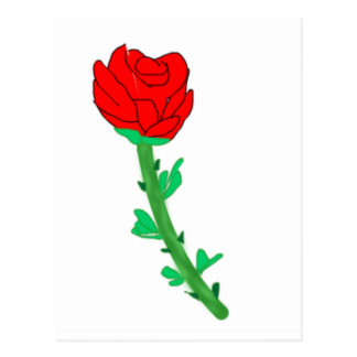 a-rose postcard