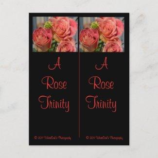 A Rose Trinity Bookmark Postcard postcard