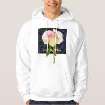 A Rose Unfolding - Black Damask Hoodie