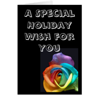 A Rosey Holiday Greeting Card