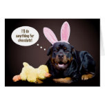 A Rottie Easter Wish Greeting Card