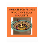 a roulette player's delight post cards