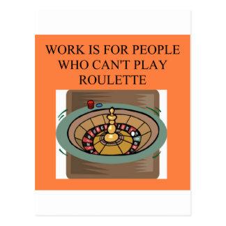 a roulette player's delight postcard