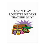 a roulette player's delight postcards