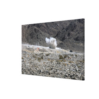 A round from an AT-4 small rocket launcher Canvas Prints