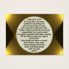 A Round Tuit ~ Atc Business Card at Zazzle
