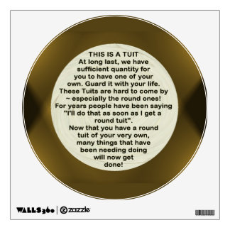 A Round Tuit ~ Decal Wall Graphic