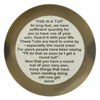 A Round Tuit ~ Plate