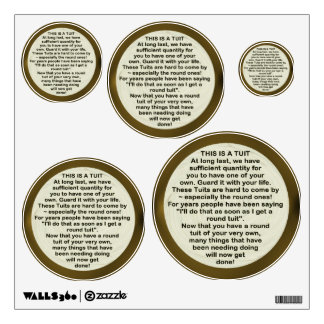 A Round Tuit X 5 ~ Decal