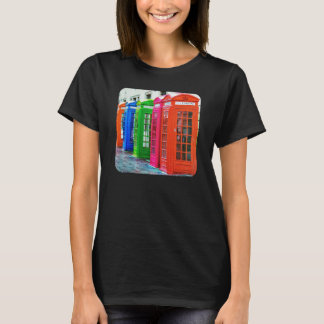A Row of Brightly Colored Telephone Boxes T-Shirt