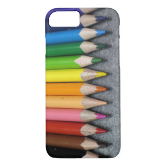 A Row of Colored Pencils. iPhone 7 Case