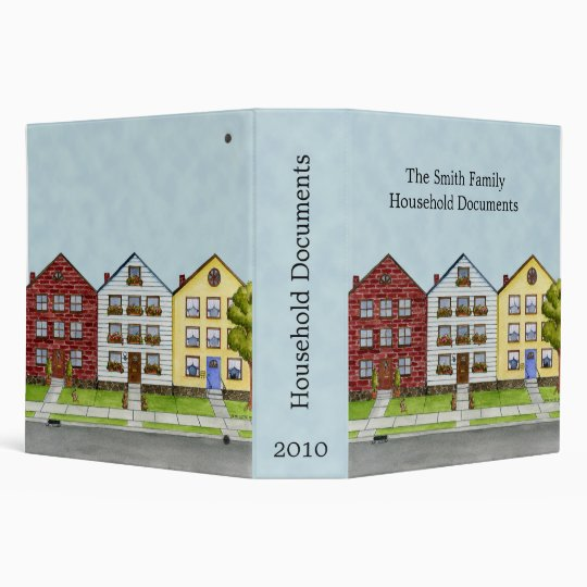 A Row Of Houses Document Binder