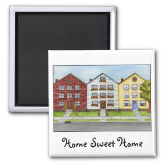 A Row Of Houses Magnet