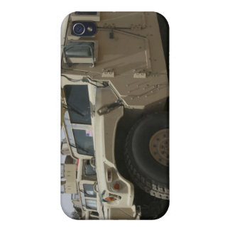 A row of humvees from Task Force Military Polic iPhone 4/4S Covers