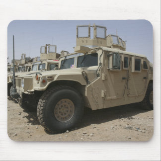 A row of humvees from Task Force Military Polic Mouse Pad