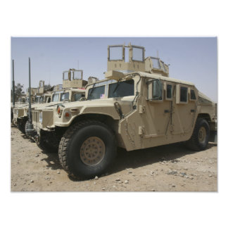 A row of humvees from Task Force Military Polic Photo Print