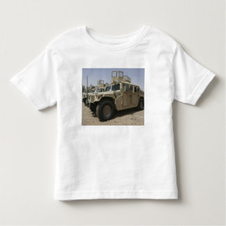 A row of humvees from Task Force Military Polic Shirt