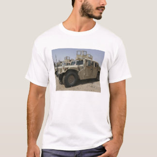 A row of humvees from Task Force Military Polic T-Shirt
