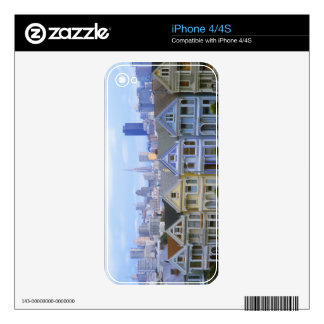 A row of Victorian homes iPhone 4 Decal