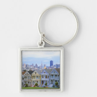 A row of Victorian homes Keychain