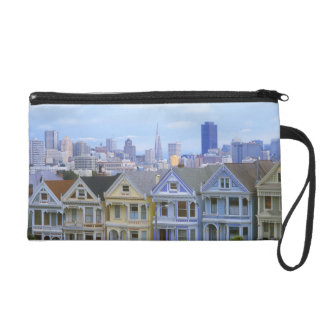 A row of Victorian homes Wristlet Purse