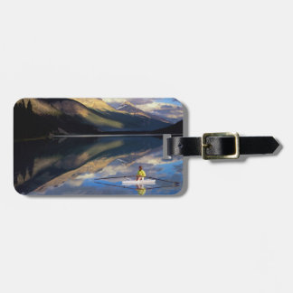 A rower on Banff Lake in the Canada MR) Luggage Tag