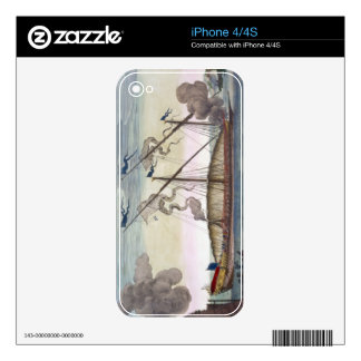 A Royal Galley (Spanish or Portuguese) rowed by sl Decal For iPhone 4