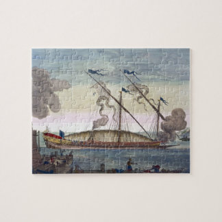 A Royal Galley (Spanish or Portuguese) rowed by sl Jigsaw Puzzle