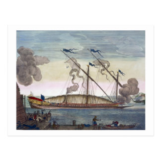 A Royal Galley (Spanish or Portuguese) rowed by sl Postcard
