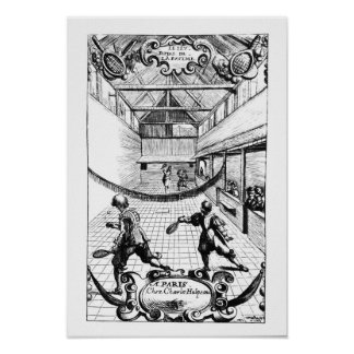 A Royal Game of Tennis in the Jeu de Paume Poster