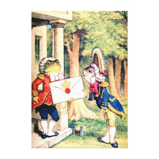 A Royal Invitation from The Queen of Hearts Canvas Print