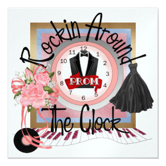 A Royal PROM Party - SRF 5.25x5.25 Square Paper Invitation Card