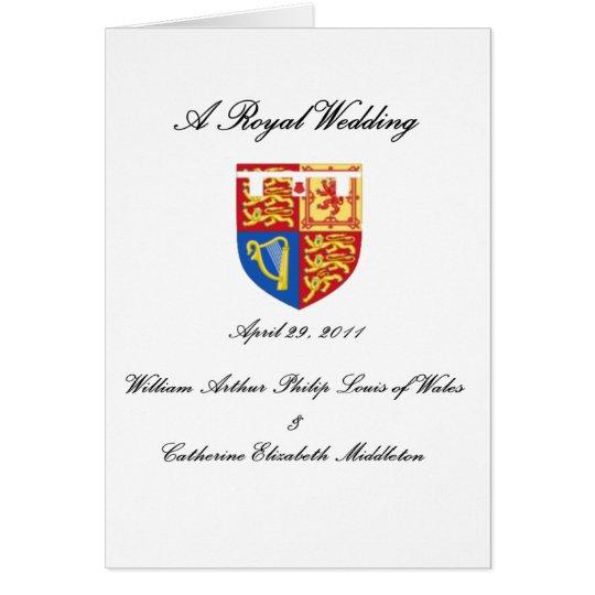 A Royal Wedding Card