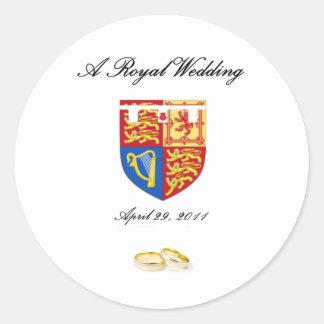 A Royal Wedding Classic Round Sticker