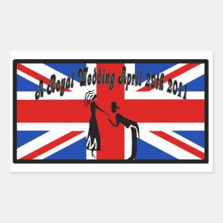 A Royal Wedding Rectangular Sticker