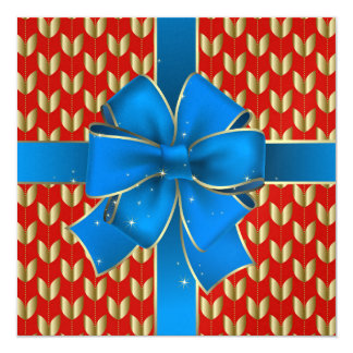 A Royally Elegant Blue Bow Invitation - SRF