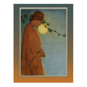 A RUBY KINDLES IN THE VINE from The Rubaiyat Postcard