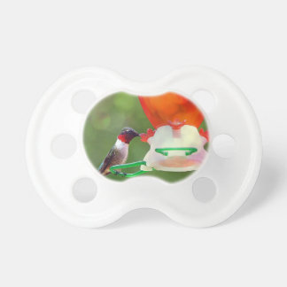 A Ruby Throated Hummingbird Pacifier
