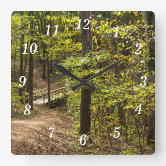 A Runge Pathway Square Wall Clock
