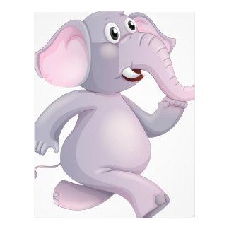 A running elephant letterhead