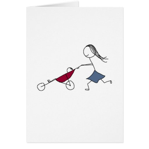 A running mommy is a happy mommy card