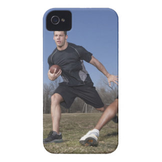 A running play during a touch football game. Case-Mate iPhone 4 case