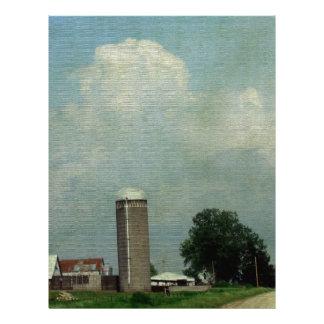 A Rural Farm Scene Custom Letterhead