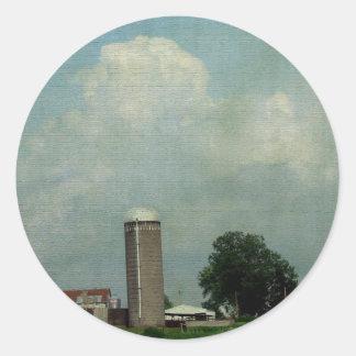 A Rural Farm Scene Stickers