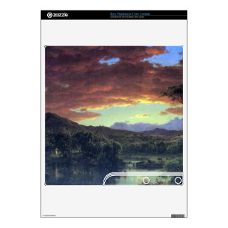 A rural home by Frederic Edwin Church Decals For PS3 Slim